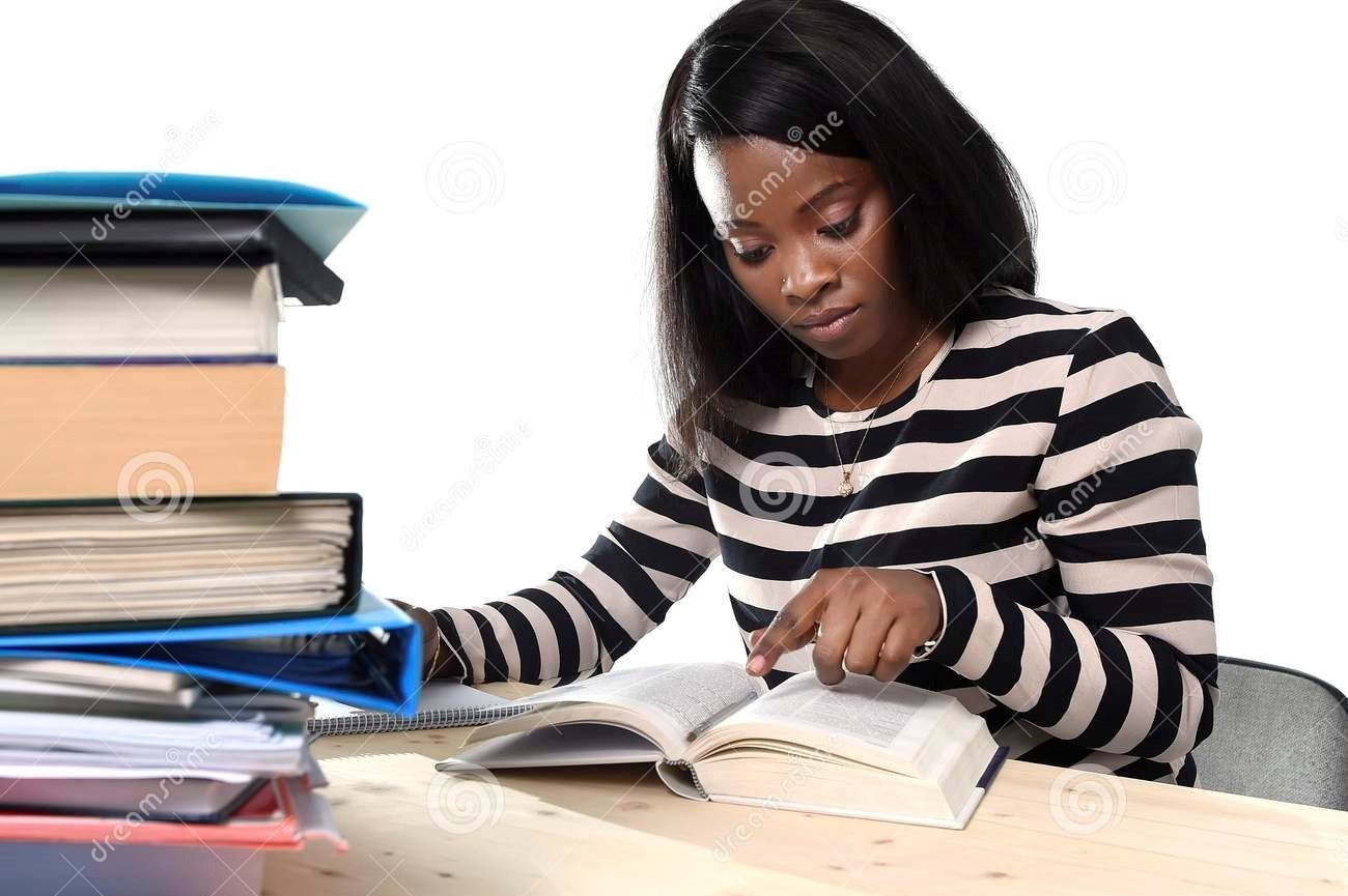 student studying -preparing for exam stress